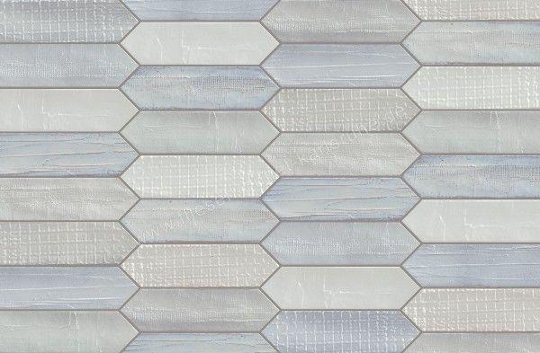 Mirage Glocal Dekor Tissue Blanc 7,5x28 cm