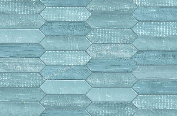 Mirage Glocal Dekor Tissue Azul 7,5x28 cm