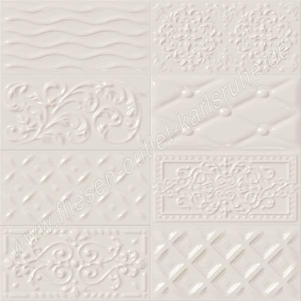 Raspail vainilla 10x20 cm Relief-Dekor vanille glänzend