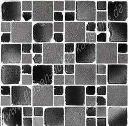 Mix black 30x30 cm