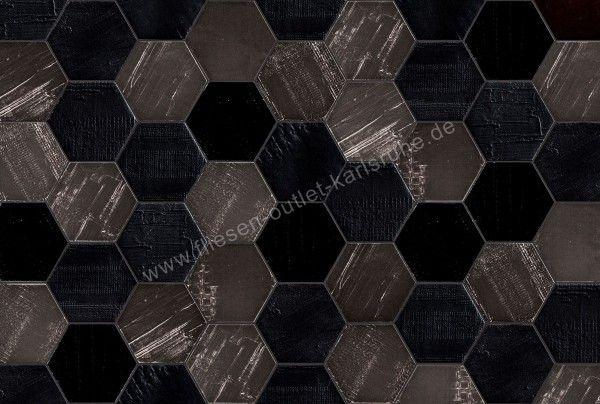 Mirage Glocal Dekor Ruche Noir 12,5x10,9 cm