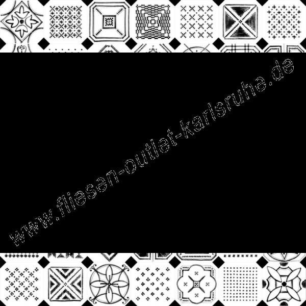 Vives Vodevil Achteckfliese 20x20 cm Dekor-Mix Sombra