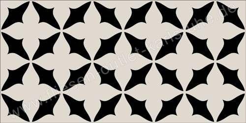 Vives Wandfliese 10x20 cm Dekor Caumartin Negro