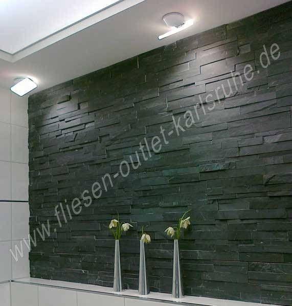 Naturstein Verblender Laja negro 18x50 cm
