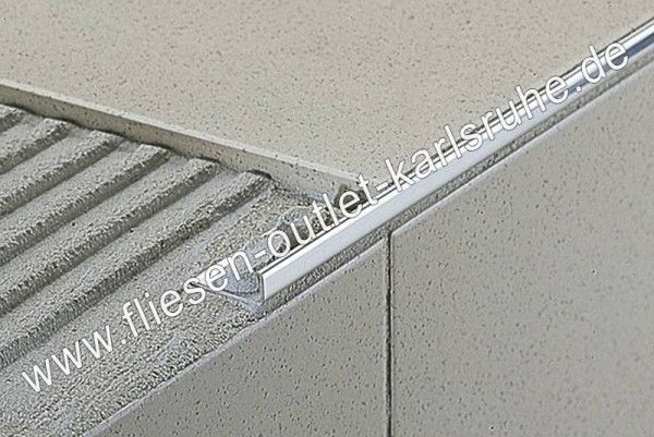 Fliesen Profil E-80, Edelstahl 8 mm, Stab=270 cm