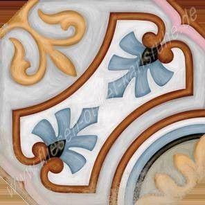 Vives Vodevil Achteckfliese 20x20 cm Dekor Diglas Multicolor