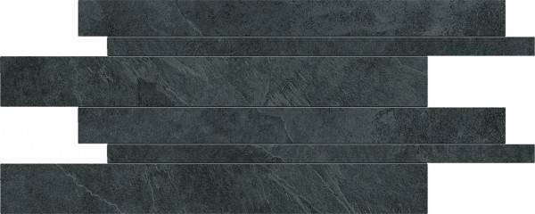 Ergon Cornerstone Slate Black 30x60 cm Listelli Sfalsati