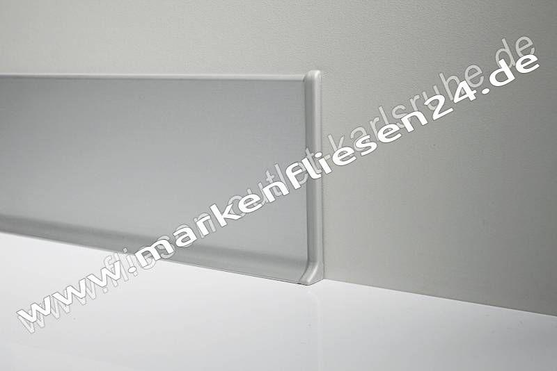 Profilpas Metall Sockelleiste H 6cm Alu Weiss Glanzend Stab 200 Cm