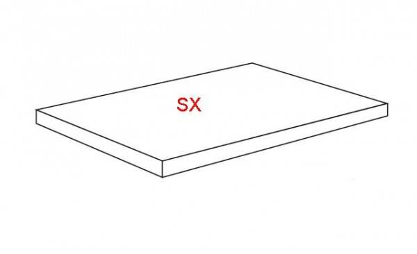 La Roche di Rex Treppenstufe Ecke links 33x120x3 cm naturale