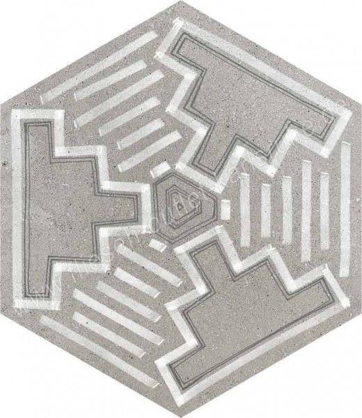 Vives Rift Igneus 23x26,6 cm Hexagono Cemento
