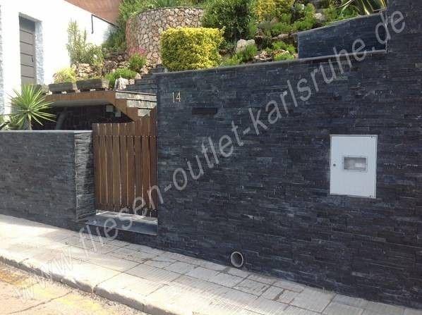 Naturstein Verblender Laja Gobi negro 18x50 cm