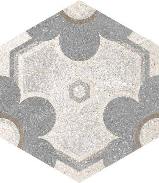 Vives Rift Yerevan 23x26,6 cm Hexagono Multicolor
