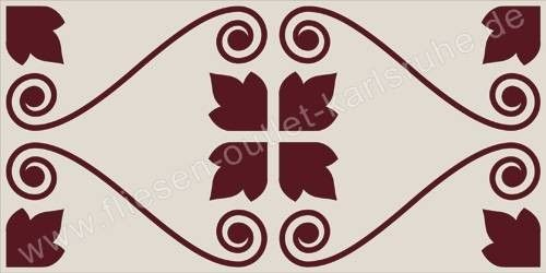 Vives Wandfliese 10x20 cm Dekor Huchette Cereza