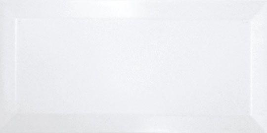 Metro Wandfliese 10x20 cm weiß glänzend mit Facette
