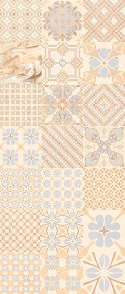 Vives 1900 Dekorfliese 20x20 cm Tassel Crema mehrfarbig
