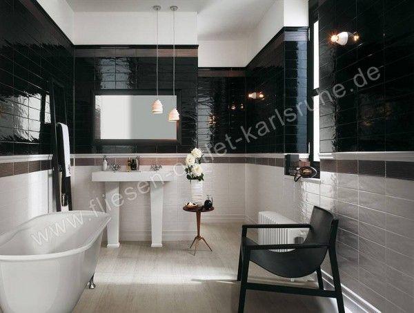 Fap Wandfliese Manhattan black 10x30 cm