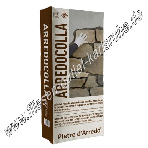 Pietre d arredo arredocolla 25 kg grigio fliesenkleber for Pietre da arredo