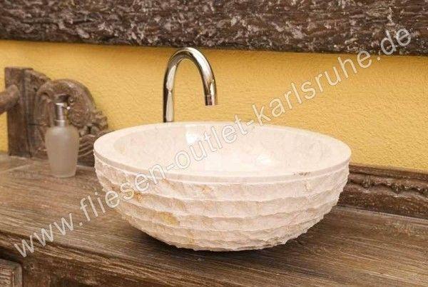 Waschbecken / Schüssel TH-007-BLB Marfil Brillo