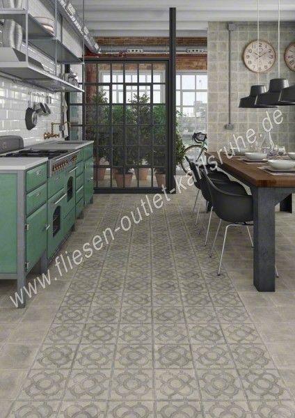 Feinsteinzeug vives acorn cemento 20x20 cm world streets fliesen outlet - Zementfliesen outlet ...