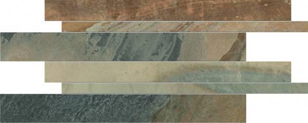 Ergon Cornerstone Slate Multicolor 30x60 cm Listelli Sfalsati