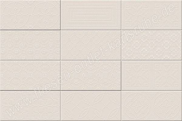 Vives Fatracci vainilla 10x20 cm Relief-Dekor vanille glänzend