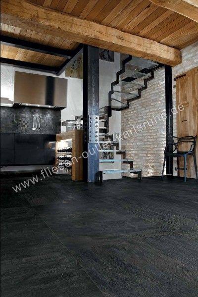 Rex Ardoise Noir 40x80 cm Matte Squadrato