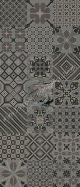 Vives 1900 Dekorfliese 20x20 cm Tassel Grafito mehrfarbig