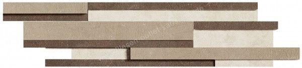 Floorgres Industrial Modulo Listello Sfalsato 15x60 cm Mix Ivory / Moka / Taupe