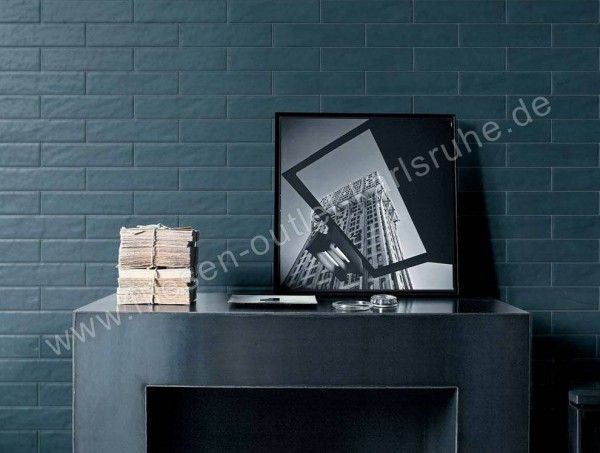 Fap Wandfliese Boston Petrolio 7,5x30 cm