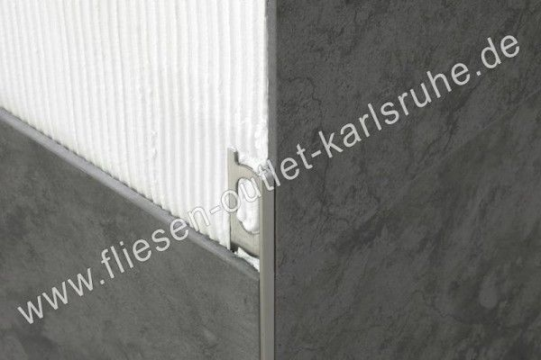 Fliesen Profil A-100, Alu silber 10 mm, Stab=270 cm