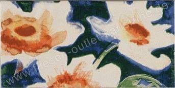 Bordüre 10x20 cm Flower-3 mehrfarbig