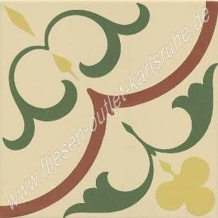 Vives 1900 Dekorfliese 20x20 cm Gaudi-1 mehrfarbig