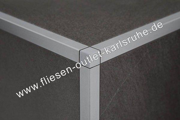 Fliesen Profil Q-100, Edelstahl gebürstet 10 mm, Stab=270 cm