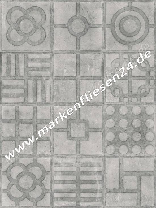 Feinsteinzeug Vives Paulista Cemento 20x20 Cm World