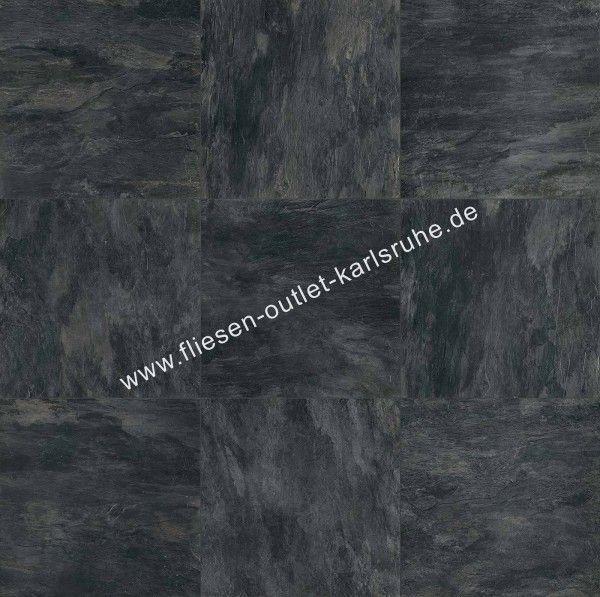 Rex Ardoise Noir 30,4x60,8 cm Matte Squadrato