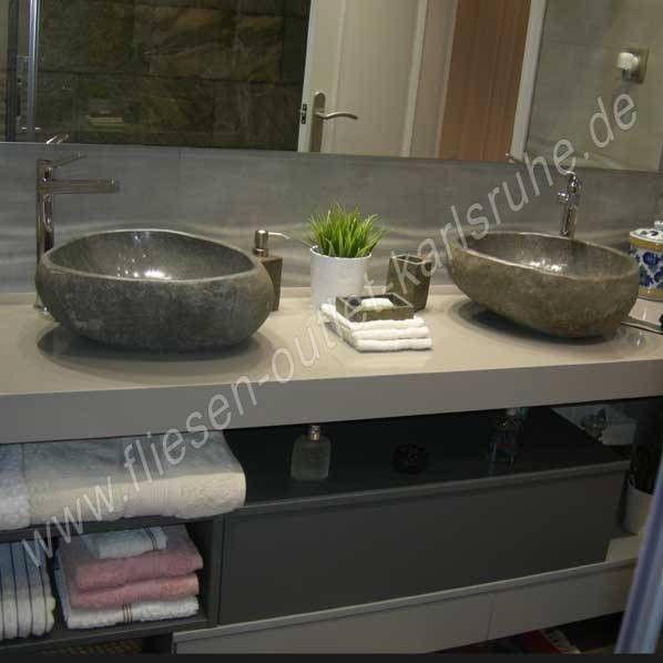 Waschbecken / Schüssel TH-006-GR Riverstone