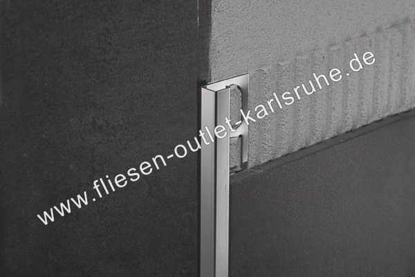 Fliesen Profil Q-80, Edelstahl gebürstet 8 mm, Stab=270 cm