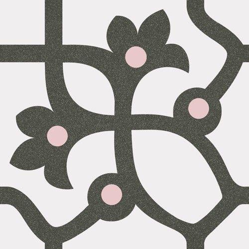 Vives 1900 Dekorfliese 20x20 cm Jujol Grafito mehrfarbig