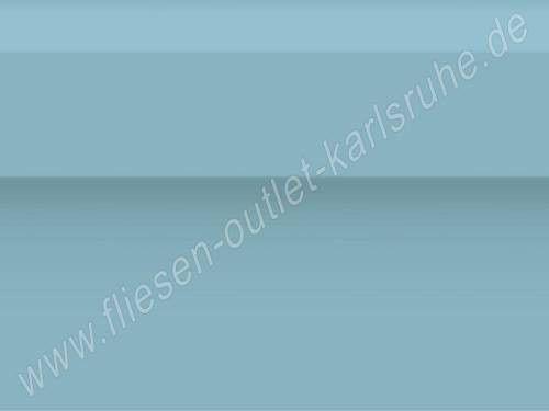 Vives Zocalo Rivoli celeste Sockel 15x20 cm himmelblau glänzend mit Wulst