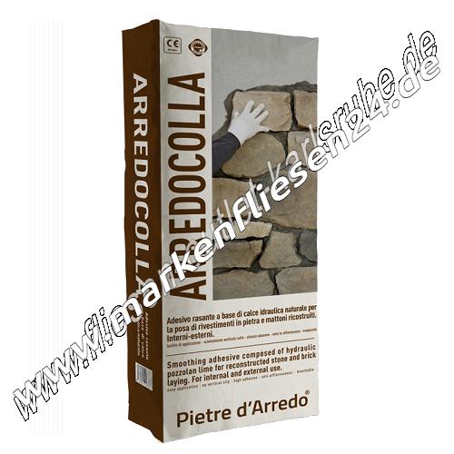 Pietre d arredo arredocolla 25 kg grigio fliesenkleber for Colmef pietre d arredo