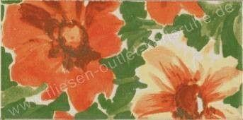 Bordüre 10x20 cm Flower-2 mehrfarbig