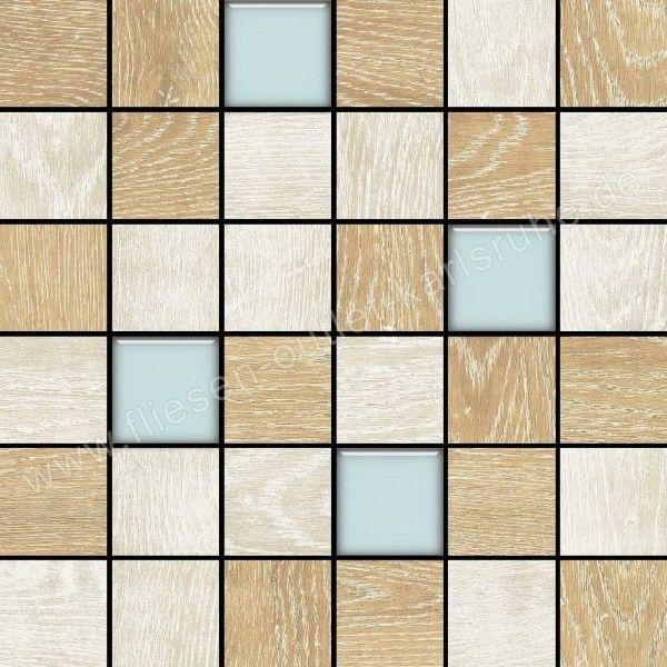 Colorker Eternal Wood Mix Glass C Mosaik 5x5 cm