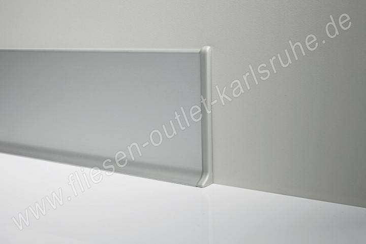 profilpas metall sockelleiste h 6cm alu silber matt stab. Black Bedroom Furniture Sets. Home Design Ideas