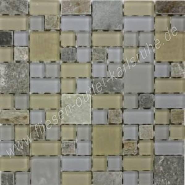 Mix beige 30x30 cm mosaik fliesen outlet - Zementfliesen outlet ...