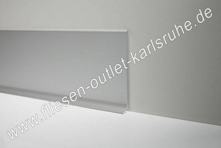 profilpas metall sockelleiste h 6cm alu weiss gl nzend. Black Bedroom Furniture Sets. Home Design Ideas